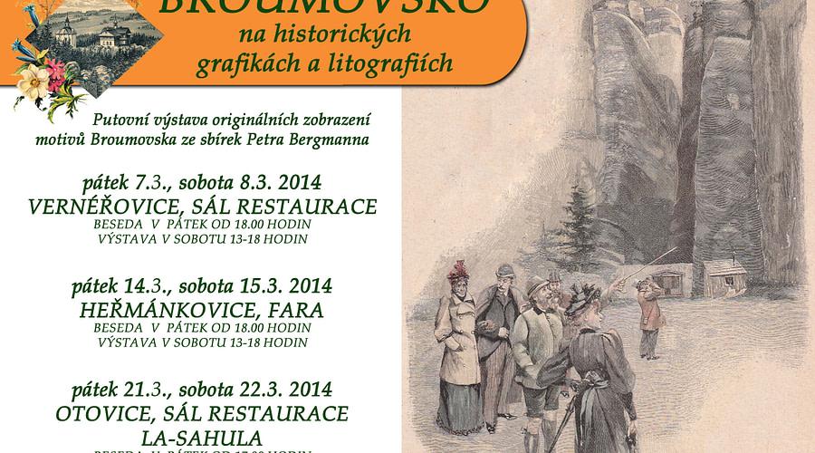Broumovsko na historických grafikách a litografiích